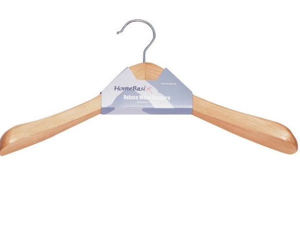 Homebasix HEA00045G-N Premium Coat Hanger, Natural, Wood