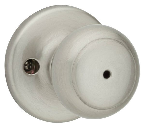 Kwikset 300CV 15 RCAL RCS Round Colonial Flat Ball Door Knob Lockset, Satin Nickel
