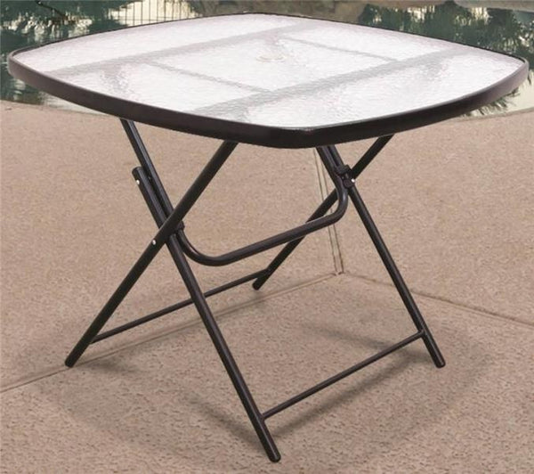 Seasonal Trends T5E36KR1J33 Folding Chat Table, Glass, 36""