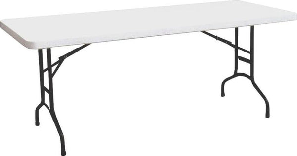 Homebasix TBL-040  Banquet Table with Folding Leg 6', White