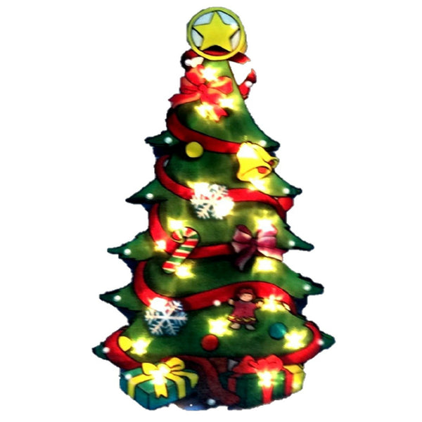 Santas Forest 60327 Double Sided Christmas Tree, 17 Inch