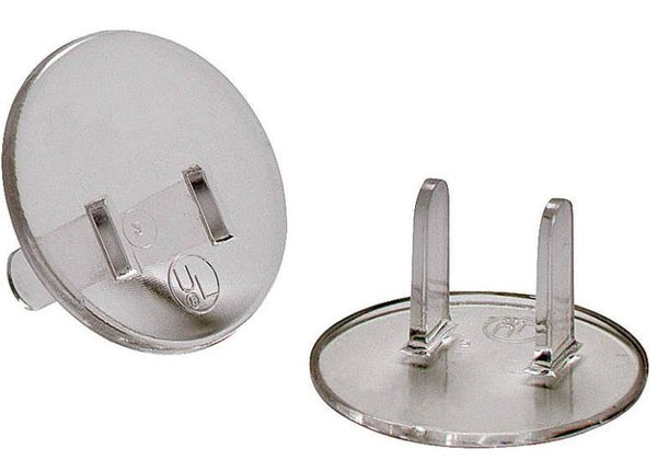 Cooper Wiring BP29CL-SP Receptacle Safety Cap And Plug, Clear