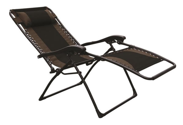 Seasonal Trends F4341OXBKOX30/64 Essentials Patio Chair, Extra Large,  Black/Tan