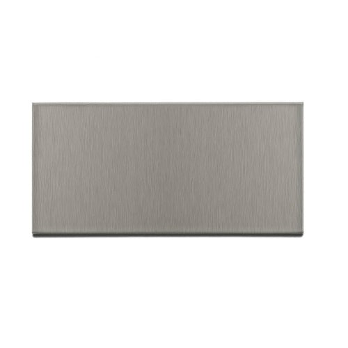 "Aspect F53-50 Stainless Steel Short Grain Wall Tiles, 3"" x 6"" Brushed Stainless"
