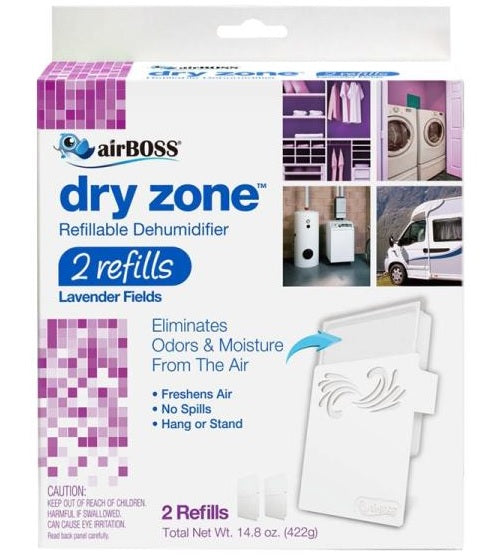 airBOSS 761.4 Dry Zone Refillable Dehumidifier, 2 Refills