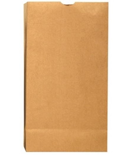 R3 18424 Grocery Bag, Kraft Paper, Plain, 500/Bundle