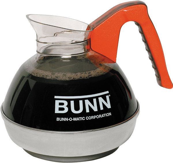 Bunn 06101.0101 Easy Pour Commercial Decaf Coffee Decanter, Orange, 12 Cup