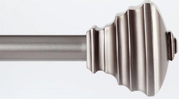 "Kenney KN80207 Curtain Rods, Satin Nickel, 36"" to 66"""