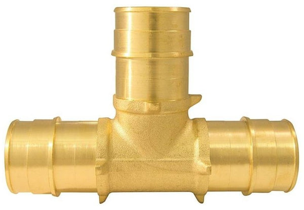 Apollo EPXT11 Pex Pipe Tee, Brass, 1""