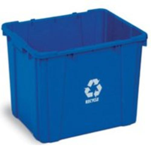 Continental Commercial 5914-1 Recycling Bin 14 Gallon , Blue