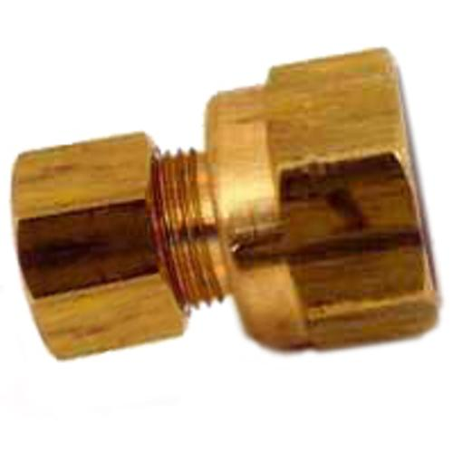 "Anderson Metal 50066-1408 Brass Compression Connector, 7/8"" x 1/2"""