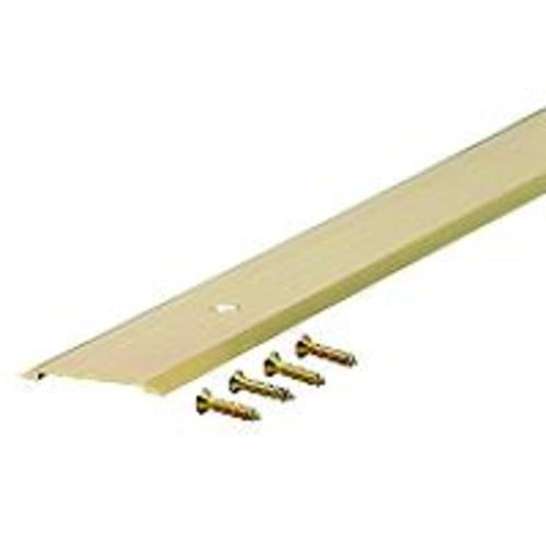 "M-D Building 09563 Flat Top Threshold, 1-3/4"" x 1/8"" x 36"", Brite Gold"