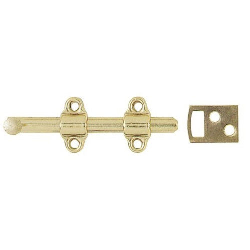 Stanley 763550 Stain Brass Surface Bolts, 4""