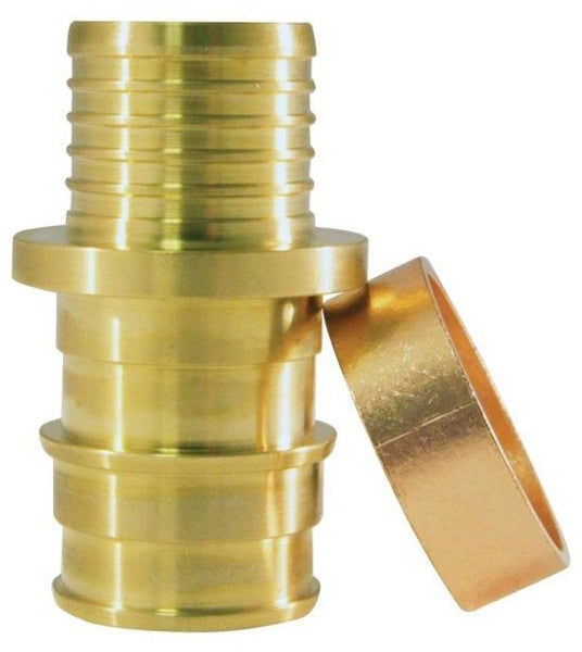 "Apollo EPXBC125PK Pipe Coupling, Brass, 1/2"" x 1/2"""