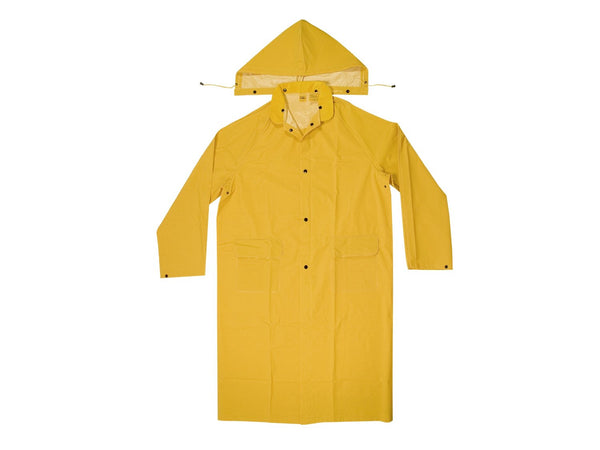CLC R105L 2 Piece Heavyweight PVC Trench Coat, Yellow, Large