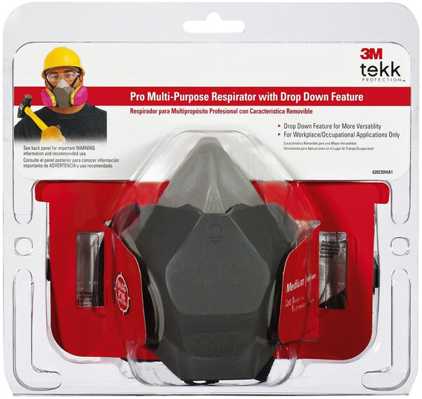 3M 62023DHA1-C TEKK Protection Professional Multi-purpose Respirator