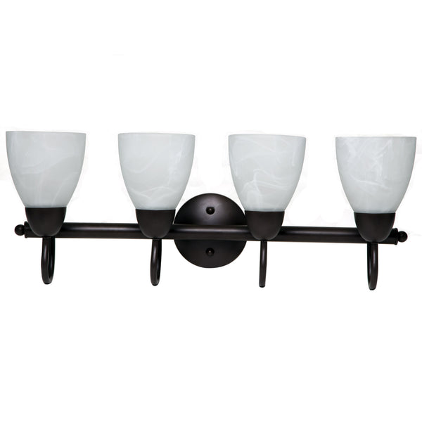 Boston Harbor V83NK04-VB Four Light Vanity Wall Fixtures, Venetian Bronze