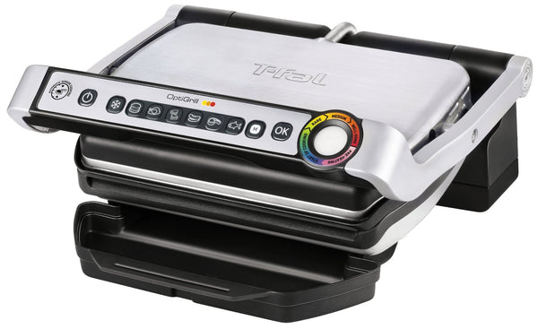 T-Fal GC702D53 OptiGrill Indoor Electric Grill, Stainless Steel