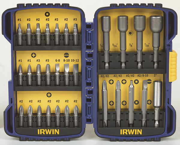 Irwin 357030 Screwdriving Bit Set 30Pc
