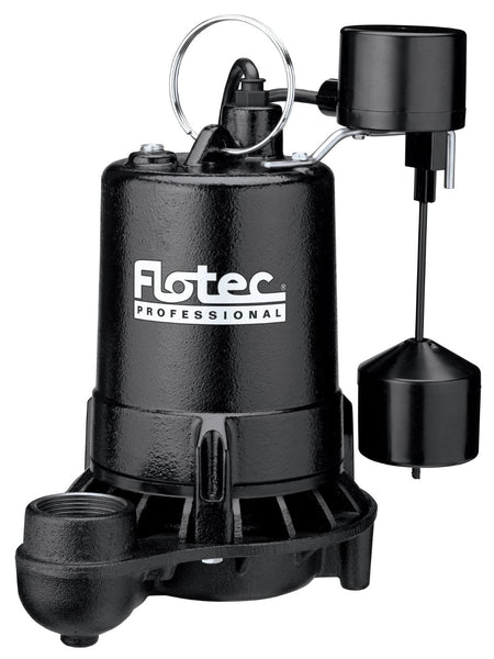 Flotec E75VLT Professional Series Submersible Cast Iron Sump Pump, 3/4 HP