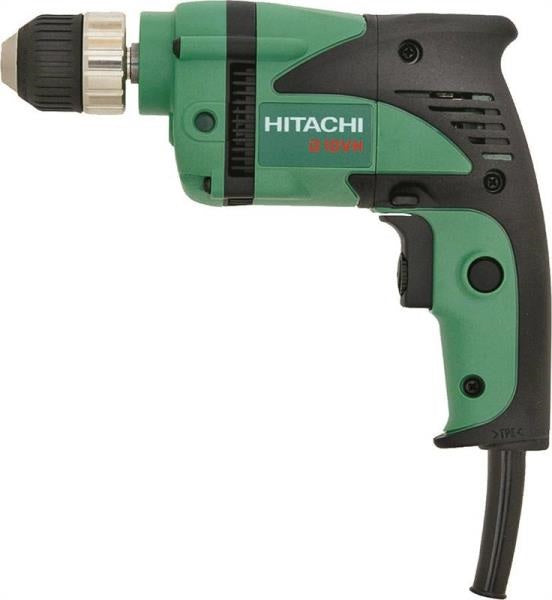 "Hitachi D10VH2 Lightweight Electric Drill, 3/8"", 2500 Rpm"