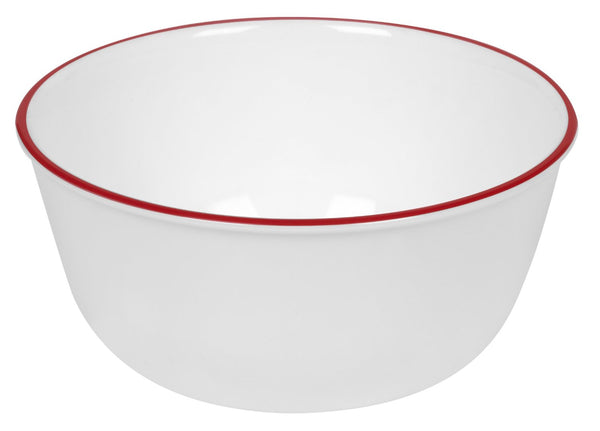 Corelle 1060572 Livingware Red Band 28 Ounce Soup & Cereal Bowl