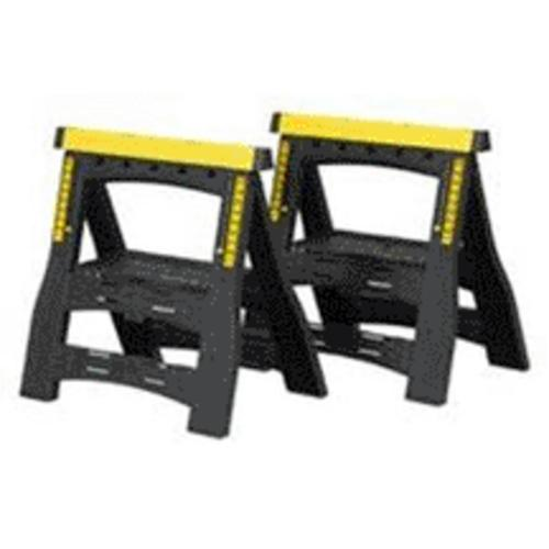"Stanley STST60626 Adjustable Sawhorse 32"", Twin Pack"