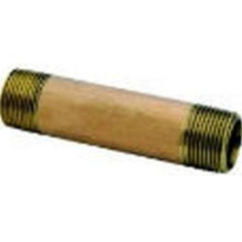 "Anderson Metals 38310-0830 Brass Pipe Nipple 1/2""X3"""