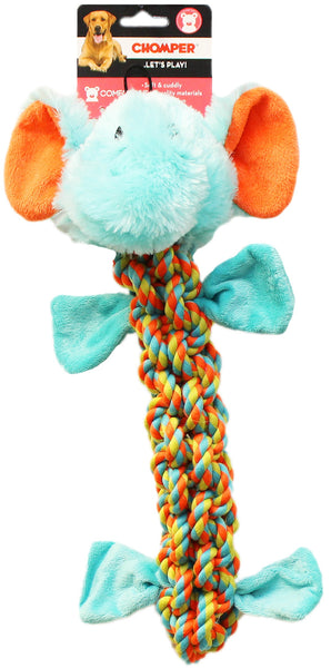 "Chomper WB15634-S Rope Elephant Dog Toy, 15"", Small"