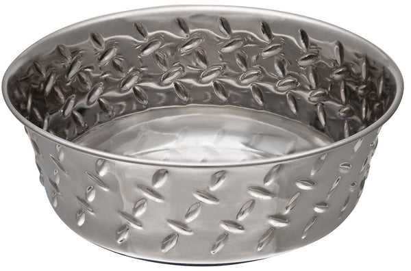 Loving Pets 7254 Bowl Diamond Plate, 1-Pint