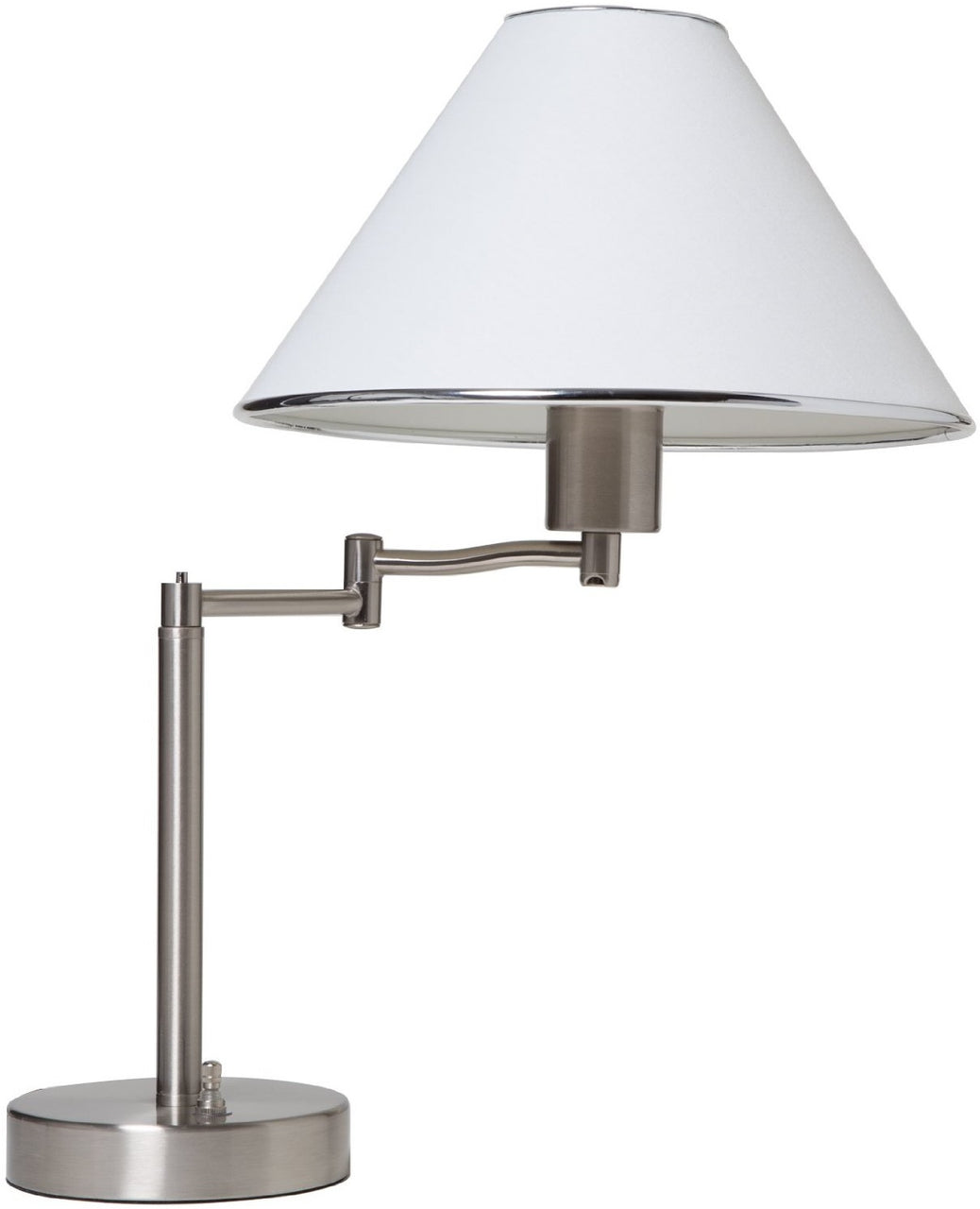 Boston Harbor TL-TB-8008-3L Swing Arm Adjustable Table Lamp, Satin Nickel