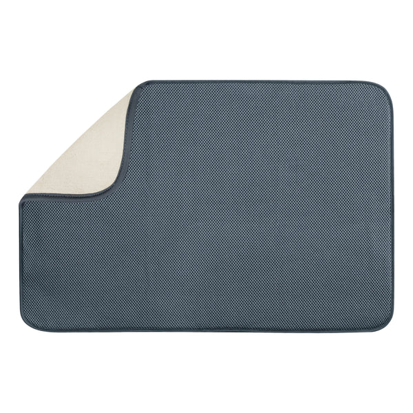 InterDesign 40232 Microfiber Drying Mat, XL, Pewter