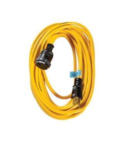 Yellow Jacket 2738 SJTW Extension Cord with Locking Plugs, Yellow, 12/3, 100'