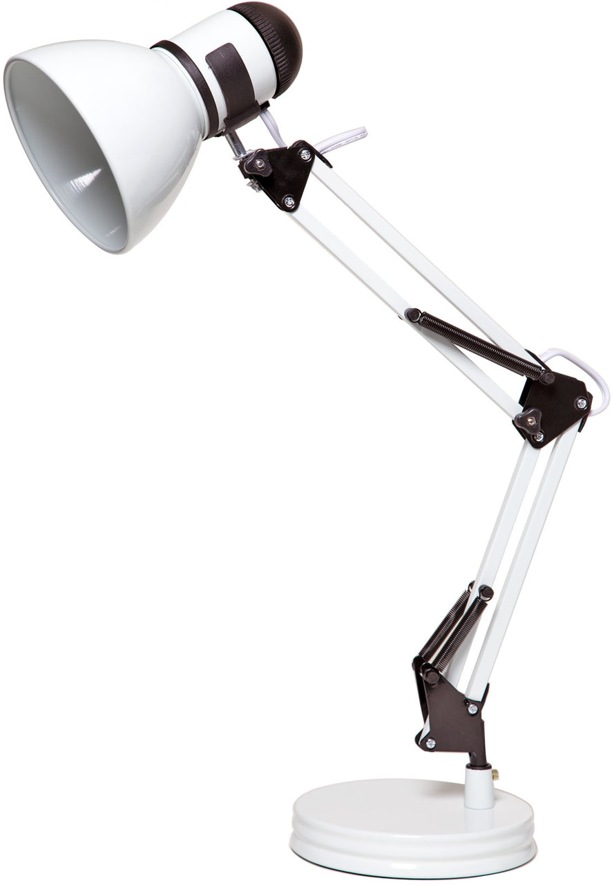Boston Harbor TL-WK-134E-WH-3L Swing Arm Desk Lamp, White
