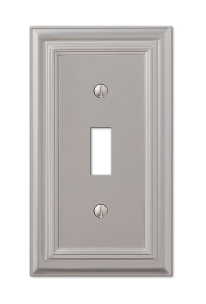AmerTac 94TN Amerelle Continental 1 Toggle Wall Plate, Satin Nickel