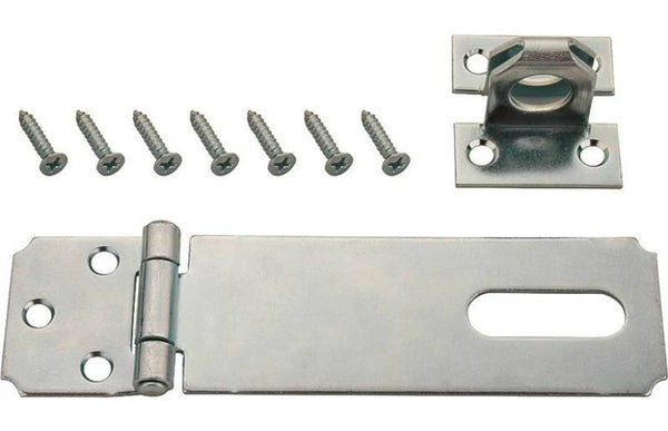 "Prosource LR-121-BC3L-PS Steel Safety Hasp, Fixed Staple, 3-1/2"" Length"