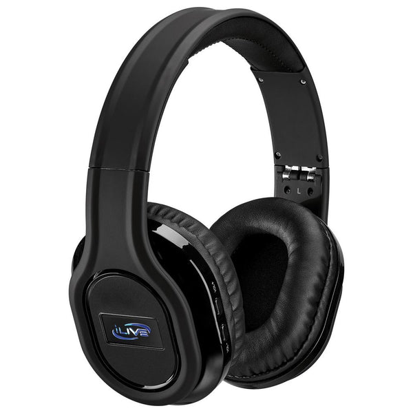 iLive IAHP87B Bluetooth True Noise Cancellation Headphones, Black