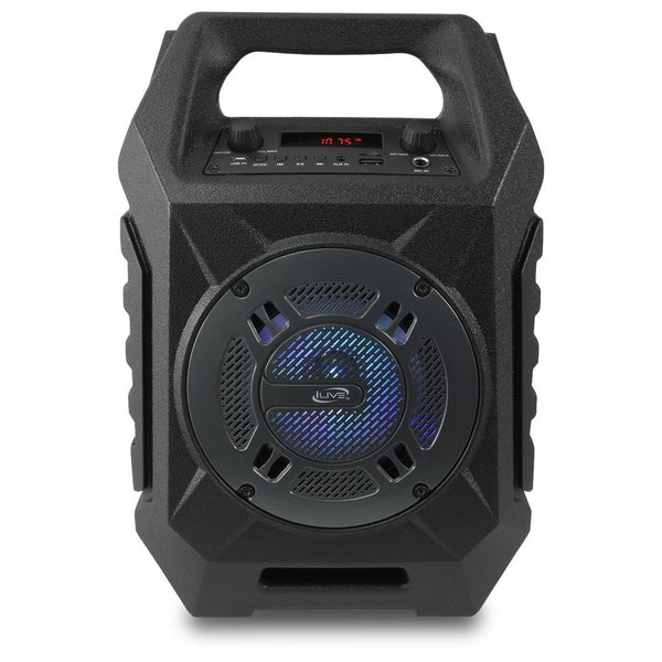 iLive ISB408B Wireless Bluetooth Portable Speaker, Black