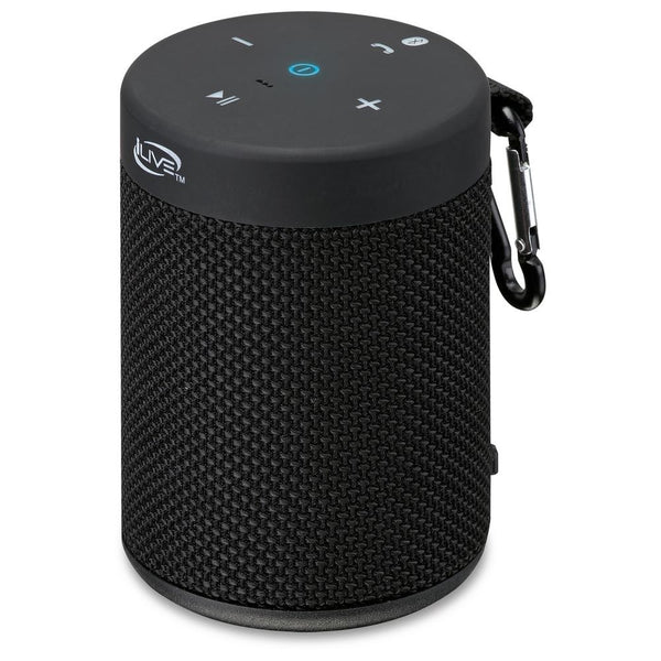 iLive ISBW108B IPX5 Waterproof Bluetooth Speaker, Black