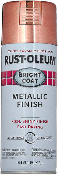 Rust-Oluem 331255 Bright Coat Rose Metallic Spray Paint, 11 Oz