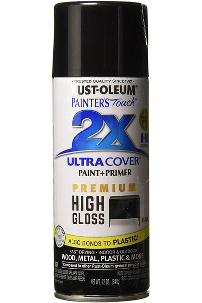 Rust-Oluem 331172 Painters Touch 2X Premium High Gloss Spray Paint, 12 Oz