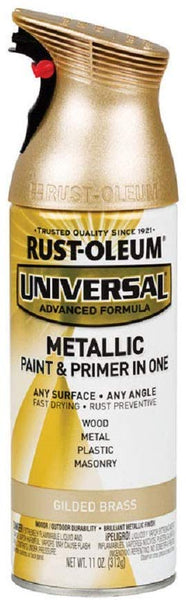 Rust-Oluem 330504 Universal Metallic Paint & Primer Spray, 11 Oz