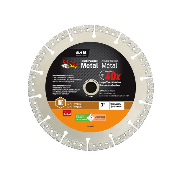 Exchange-A-Blade 3110432 Metal Cutting Diamond Blade, 7 inch