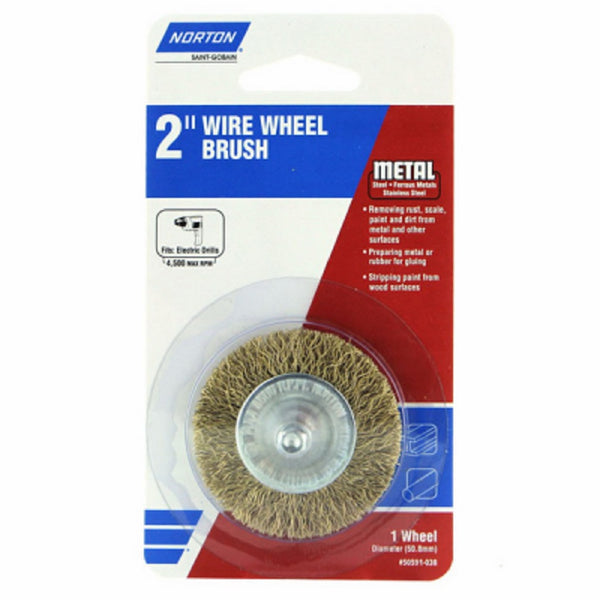Norton 50591-038 Wire Wheel Coarse, 2 Inch