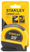"Stanley STHT30825 Leverlock Measuring Tape, Black/Yellow, 1"" x 25'"