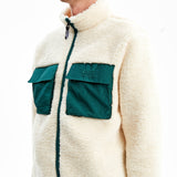 Hakuba Sherpa Fleece Jacket Off White