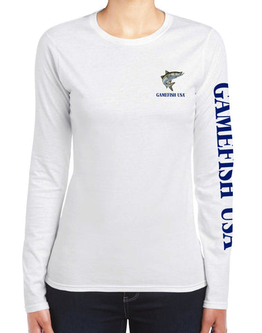 Image of Women's UPF 50 Lightweight Microfiber Moisture Wicking Performance Fishing Shirt Snook - Gamefish USA