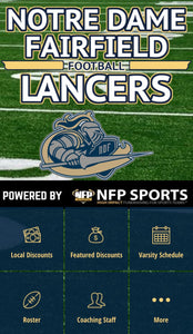 Notre Dame Fairfield Lancers Football Mobile App