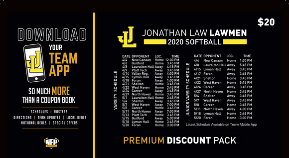 Jonathan Law Softball Premium Discount Pack 2020