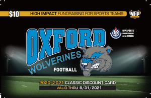 Oxford Wolverines Football Classic Discount Card 2020